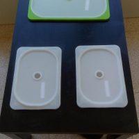 Mesa sensorial con tapas