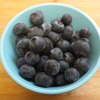 Arándanos azules frescos