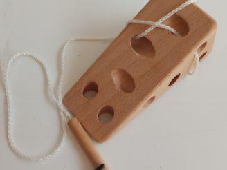Queso y ratón de madera para coser